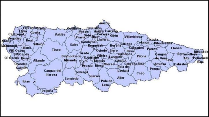 Mapa De Asturias Concejos.Una Asturias Que No Llega A Los 20 Concejos Caleyando Por